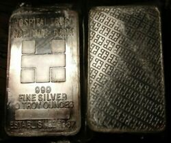 Very Rare 10 Ounce Silver Bar Hospital Trust National Bank Low Number 002495
