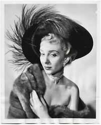 Vintage 1950 Women's Fashion Sophisticated Wild Hat ACME Glamour Photograph NYC $4.95