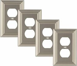 Pack Of 4 Wall Plate Outlet Switch Covers |decorative Satin Nickel Combo Trusted