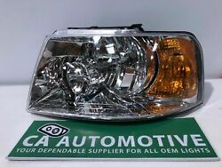 2003 2004 2005 2006 Ford Expedition Headlight Left Lh Driver Halogen Tyc Cft3