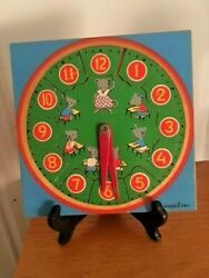 Vintage 1970's Wooden Clock Tray Puzzle Simplex, Original Owner, As-is