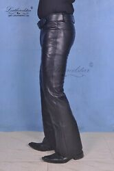 Bell Bottoms Leather Jeans Classic 70and039s Bootcut 517 Rodeo Cowboy Custom Made Gt