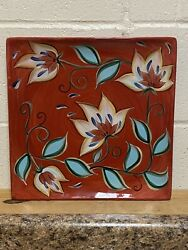 Southern Living At Home Red Bountiful Platter By Gail Pittman 13 Square