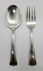 Gorham Greenbrier Pattern Sterling Silver Baby Fork And Spoon