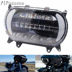Led Headlight Daylight Running Light Drl And Turn Signal For Harley Road Glide 15