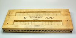 Vintage Wood Cigar Mold Tobacco Pres Wilh Osterwald 2 Part Top And Bottom 22 X 9
