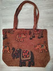 Colorful beaded Good Luck Elephant Sac Purse made in India $12.00