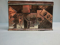 Very Rare Art Deco, Metal Playing Card Box With Lid, Made In Japan, Ca. 1925