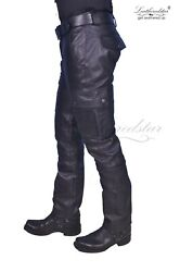 Leather Biker Military Army Basic 6 Pocket Cargo Pant Trousers Sturdy Product Gt