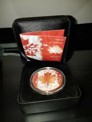 1965-2015 Canada 50 Years Of Our Flag .9999 Silver / 24k Gold Face 'd 456/500