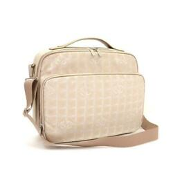 Very Rare New Line Briefcase Beige Textile/leather Messenger Bag