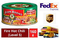 Tuna Fish Paste Spreads Fire Chilli Hot Ayamas Brand Lot Of 10 Cans X 160g Halal