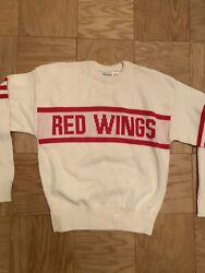 Rare And New Detroit Red Wings Cliff Engle Sweater Medium Nhl Vintage 1980s