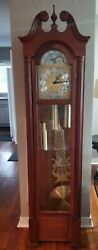 Vintage Emperor Chime Grandfather Clock-weight Driven-original From Kit