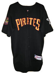 Vintage Authentic Pittsburgh Pirates Jersey Custom Patches Three Rivers Stadium
