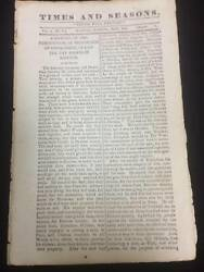 Times And Seasons 1840 Volume 1 Number 7 May Lds Mormon Rare Vintage Issue Pb