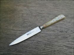 Antique Carl Schlieper Eye Brand Germany Chefand039s Ornate Carbon Steel Paring Knife