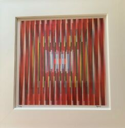 """Yaacov Agam, """"in Deep Prayer"""" - Hand Signed, Limited Edition, Color Agamograph"""