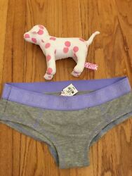 Pink By Victoria's Secret Low Rise Hipster Panties M NEW w Spotted Stuffed Dog $6.99