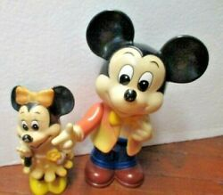 2 Vintage Piggy Banks Walt Disney Productions Made Korea Minnie And Mickey Mouse