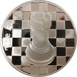 The Rook - 1 Troy Oz .999 Silver Round Chess Coin - 1 9/16andquot Dia.