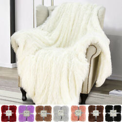 Extra Soft Cozy Faux Fur Throw Blanket Bed Sofa Couch Decorative Fuzzy Shaggy
