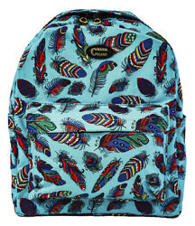 Peacock Feathers Bird Bags School Canvas Backpack Teen Girls Student Large Kids $24.99