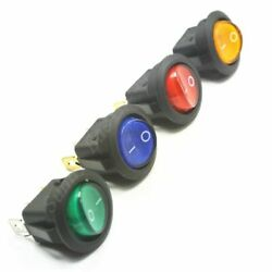 Switch Lights Rounds Multiple Color Cars Button Silver/copper Contacts 5pcs/lots