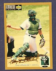 1994 Collectorand039s Choice Gold Signature 267 Terry Steinbach Athletics