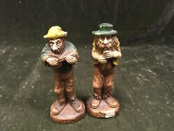 Vintage Syroco Hillbilly Band Wood Figurine Ben And Pete 1940s