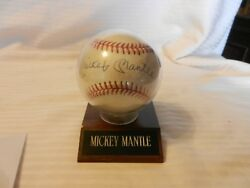 Mickey Mantle Autographed American League Baseball Bobby Brown President