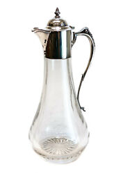 Langfords Silver Galleries Lsg Sterling Silver Glass Ewer Pitcher 2000
