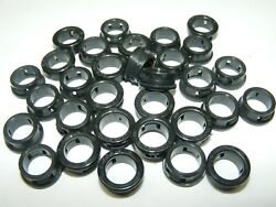 Qty 30 Heyco Black Plastic Snap Bushing B-500-375 1/2 Hole Cable Grommet