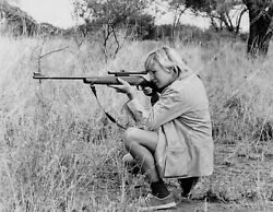 Crp-50529 Women W Guns Young Blonde Girl W High Powered Rifle And Scope Unknown