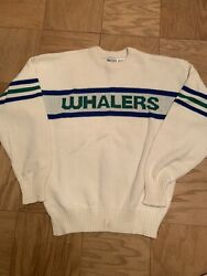 Rare And New Hartford Whalers Cliff Engle Sweater Medium Nhl Vintage 1980s