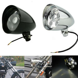 Bullet Housing With 5.75 Led Daymaker Headlight For Custom Chopper Motorcycles