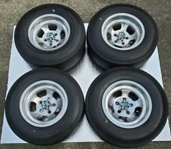 Rare Vtg. Et 14×7.5 Slotted Mags With Pirelli Sempione 70 Tires Time Capsule