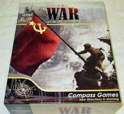 Compass Games The War - Wwii Europe 1939 - 1945 Box Game Unpunched
