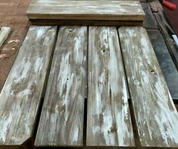 8 Reclaimed Wide Cedar Wood Boards Rustic Barn Style Lumber Crafts 22quot; LONG