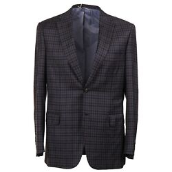 Brioni 'brunico' Wool And Cashmere Sport Coat With Leather Details 40r Nwt