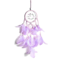 Dream Catchers Purple Feather Dreamcatcher for Bedroom Wall Hanging Decoration