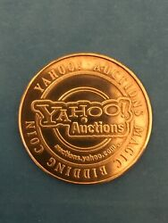 """Yahoo Auctions Magic Bidding Coin. Token Is 1.5"""" Tall. Gold"""