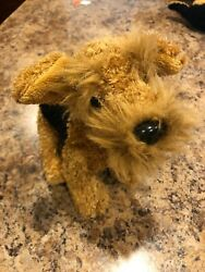 Ganz Webkinz Airedale Terrier Dog HM628 All Tags Brand New w Code