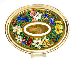 Royal Vienna Porcelain Hand Painted And Gilt Oval Tray