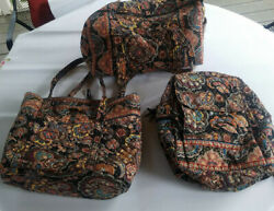 Vera Bradley Retired Kensington Backpack Duffel And New Vera Tote Collection