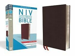 Niv, Thinline Bible, Large Print, Bonded Leather, Burgundy, Red L .. Like New