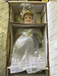 """Shirley Temple 10"""" Porcelain Doll Curly Top Movie Classics Series Danbury Mint"""