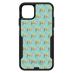 Otterbox Commuter For Apple Iphone Pick Model Preppy Camels On Teal Background