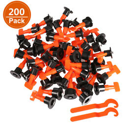 200pack Reusable Tile Leveling System Positioning T-lock Tool Kit Spacer Locator