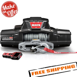 Warn 95960 Zeon 12-s Platinum 12v Electric Winch With Spydura Synthetic Rope